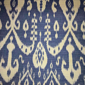 Sunbrella Sumatra Ikat Blue Indoor/Outdoor Fabric, Upholstery, Drapery, Home Accent, Outdoor, Premier Textiles,  Savvy Swatch