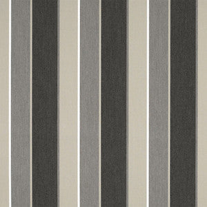 Sunbrella® Awning Stripe 4888‑0000 Clinton Granite 46