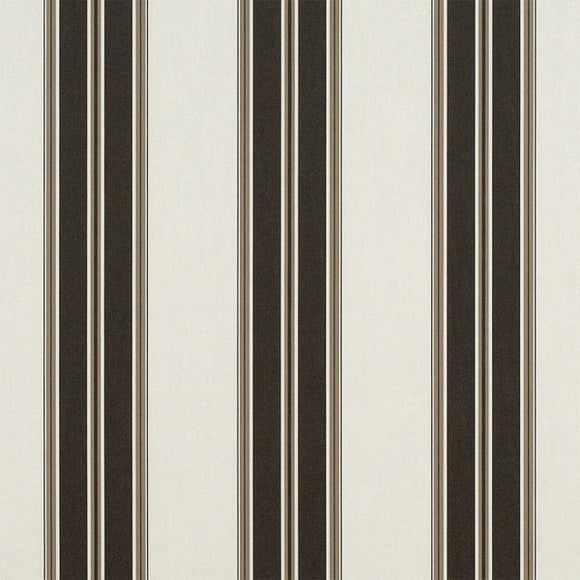Sunbrella® Awning Stripe 4946‑0000 Black Forest Fancy (Black and Taupe) 46