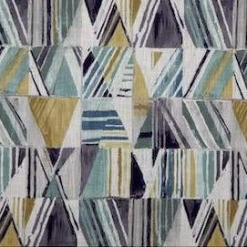 7 Yard Piece of Kasmir Geometric Bluestone Fabric