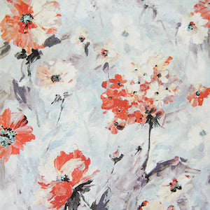 Tia Dawn Watercolor Print Floral Fabric, Upholstery, Drapery, Home Accent, Regal,  Savvy Swatch