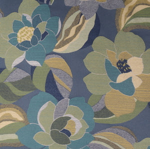 Richloom Trevor Tapestry Fabric in Aquamarine