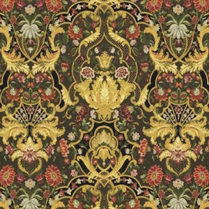 Aubusson Ebony Upholstery Fabric, Upholstery, Drapery, Home Accent, Regal,  Savvy Swatch