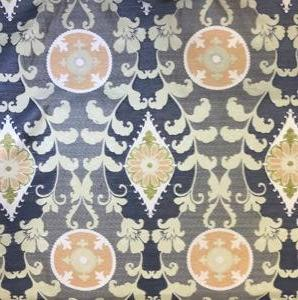 Avant Garde Indigo Decorator Fabric by Gum Tree
