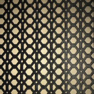 Babbit Graphite Geometric Cut Velvet Fabric, Upholstery, Drapery, Home Accent, Premier Textiles,  Savvy Swatch