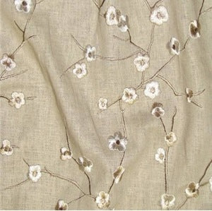 Richloom Blossom Flax Budding Petal Cement Decorator Fabric, Upholstery, Drapery, Home Accent, TNT,  Savvy Swatch