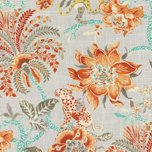 Williamsburg Braganza Persimmon Fabric