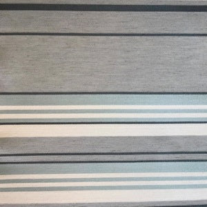 Brenda Pewter Stripe Decorator Fabric by Gum Tree, Upholstery, Drapery, Home Accent, Gum Tree,  Savvy Swatch