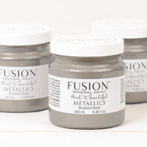 Brushed Steel Metallic - Fusion Mineral Paint, Paint, Fusion Mineral Paint,  Savvy Swatch