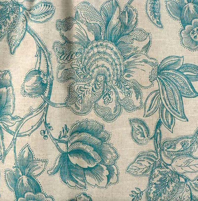 Cabriole Caribbean Blue Decorator Fabric, Upholstery, Drapery, Home Accent, Pentex,  Savvy Swatch