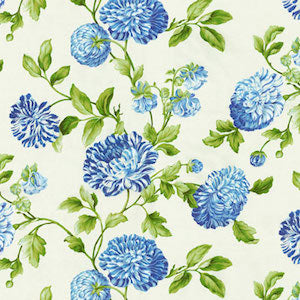 1.8 Yards of Williamsburg Charlotte Bluebell Fabric, Upholstery, Drapery, Home Accent, P/K Lifestyles,  Savvy Swatch