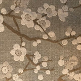 Valdese Weavers Cherry Blossom Taupe Fabric, Upholstery, Drapery, Home Accent, Premier Textiles,  Savvy Swatch