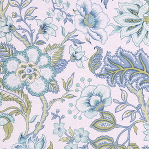Richloom Crawford Azure Printed Cotton Fabric, Upholstery, Drapery, Home Accent, TNT,  Savvy Swatch