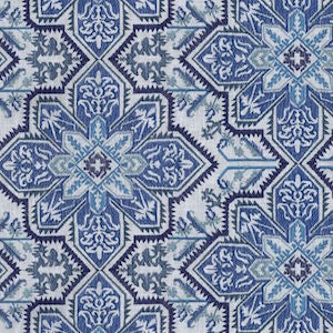 Waverly Crystalline Emb Lapis 654412 Fabric, Upholstery, Drapery, Home Accent, P/K Lifestyles,  Savvy Swatch