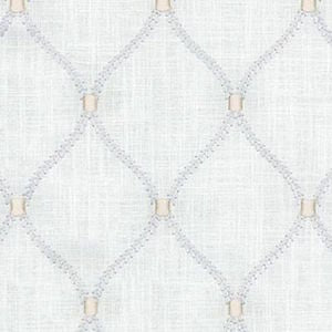 700096 Williamsburg Deane Embroidery Sterling Decorator Fabric by Waverly 2 yard piece, Upholstery, Drapery, Home Accent, PK Lifestyles,  Savvy Swatch
