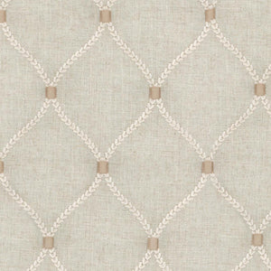 Williamsburg Flax Deane Embroidery Fabric, Upholstery, Drapery, Home Accent, PK Lifestyles,  Savvy Swatch