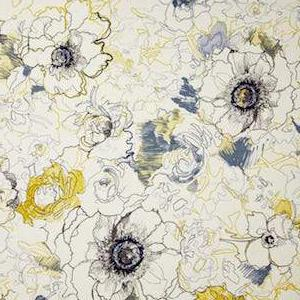 Richloom Ellery Floral Denim Fabric, Upholstery, Drapery, Home Accent, TNT,  Savvy Swatch