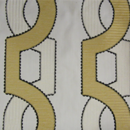 Textile Fabric Associates Fenced In Lemon Fabric