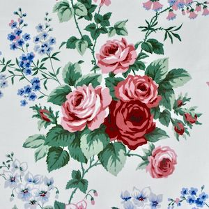 3.4 Yard Piece of First Lady Roses-Vintage Chintz Fabric by Waverly