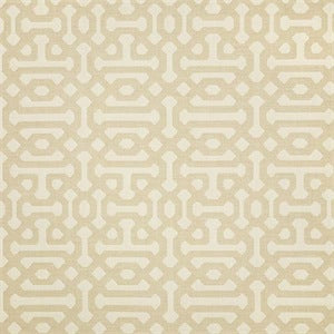 Sunbrella 45991-0001 Fretwork Flax Indoor/Outdoor Fabric, Upholstery, Drapery, Home Accent, Sunbrella,  Savvy Swatch