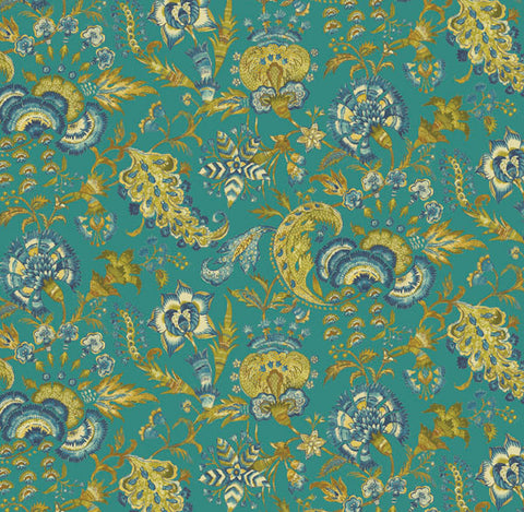 Grand Palampore Linen Decorator Fabric by PK Lifestyles, Upholstery, Drapery, Home Accent, P/K Lifestyles,  Savvy Swatch