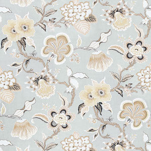 Schumacher Hothouse Flowers Mineral Decorator Fabric 1.2 Yds