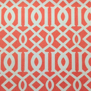 Keokit Coral Orange Geometric Cotton Drapery Fabric by Richloom, Drapery, Home Accent, Richloom,  Savvy Swatch
