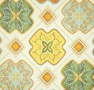 Vasili Citrus Decorator Fabric, Upholstery, Drapery, Home Accent, Swavelle Millcreek,  Savvy Swatch