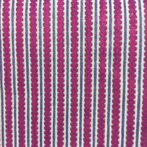 Tempo Fushia/Pink Ric Rac Cut Chenille Stripe Upholstery Fabric, Upholstery, Drapery, Home Accent, Tempo,  Savvy Swatch