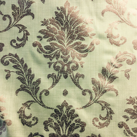 Golding Churchill Damask Key Lime Decorator Fabric, Upholstery, Drapery, Home Accent, Golding,  Savvy Swatch