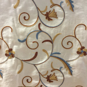 Madison Champagne Embroidered Fabric by ATI, Upholstery, Drapery, Home Accent, ATI,  Savvy Swatch