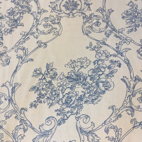 Lyon China Blue Decorator Fabric, Upholstery, Drapery, Home Accent, Golding,  Savvy Swatch