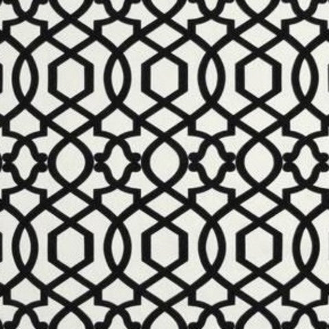PK Lifestyles Sultana Lattice Quatrefoil Noir Fabric, Upholstery, Drapery, Home Accent, P/K Lifestyles,  Savvy Swatch