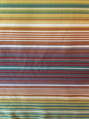Veranda Carnival Horizontal Stripe Decorator Fabric, Upholstery, Drapery, Home Accent, Gum Tree,  Savvy Swatch