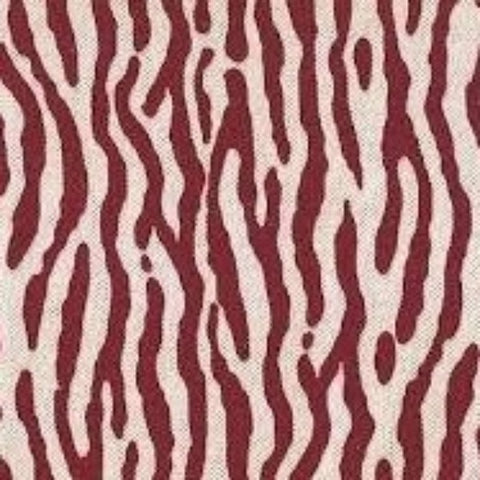 Macoa Ruby Red Velvet Tiger Stripe Woven Decorator Fabric by Microfibres, Upholstery, Drapery, Home Accent, Home Accent,  Savvy Swatch