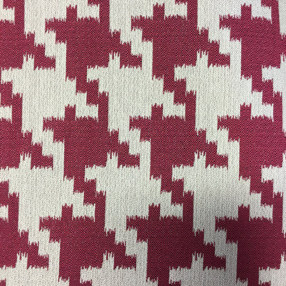 Tempo Large Pink Houndstooth Decorative Fabric, Upholstery, Drapery, Home Accent, Tempo,  Savvy Swatch