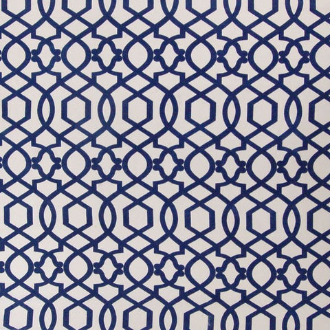 PK Lifestyles Sultana Lattice Quatrefoil Deep Ocean Fabric, Upholstery, Drapery, Home Accent, P/K Lifestyles,  Savvy Swatch
