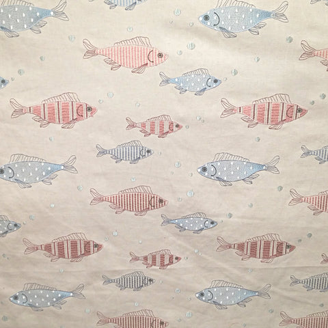 Fish Tales Embroidered Decorator Fabric by Golding, Upholstery, Drapery, Home Accent, Golding,  Savvy Swatch