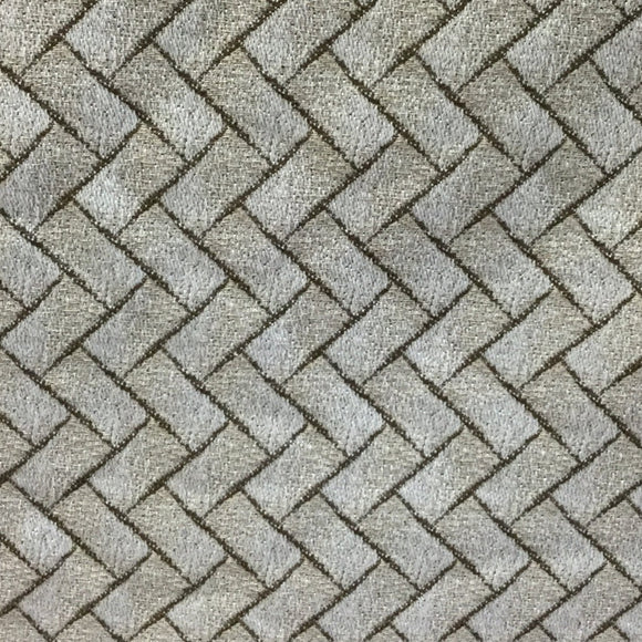 Golding Garden Path Natural Basketweave Bamboo Decorator Fabric Pewter, Upholstery, Drapery, Home Accent, Golding,  Savvy Swatch