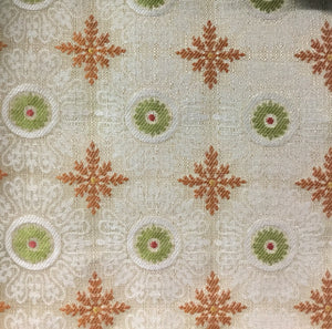 Suzani Creamsicle Decorator Fabric by Gum Tree, Upholstery, Drapery, Home Accent, Gum Tree,  Savvy Swatch