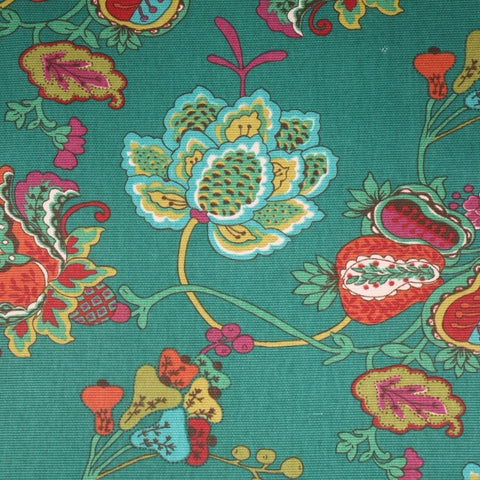Richloom Lebeau Teal Decorator Fabric, Upholstery, Drapery, Home Accent, Richloom,  Savvy Swatch