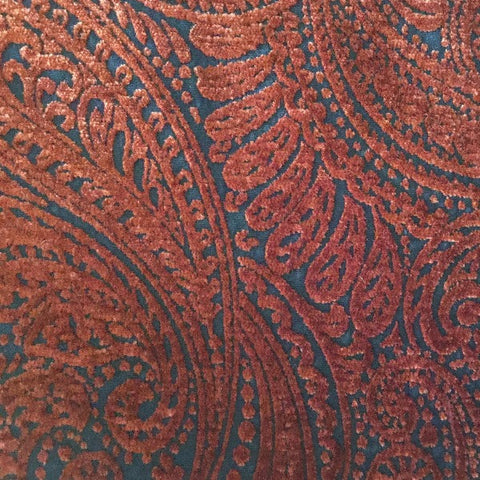 Henna Paisley B10882B Merrimac Textiles Upholstery Decorator Fabric, Upholstery, Drapery, Home Accent, Merrimac Textile,  Savvy Swatch