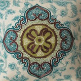 Iman Home Medina Jasper Teal Decorator Fabric, Upholstery, Drapery, Home Accent, Greenhouse,  Savvy Swatch