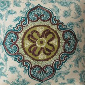 Iman Medina Jasper Teal Decorator Fabric
