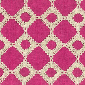 Robert Allen Bassett Hall Azalea 700170 Williamsburg Keswick Ribbon Blossom Decorator Fabric by Waverly, Upholstery, Drapery, Home Accent, P/K Lifestyles,  Savvy Swatch