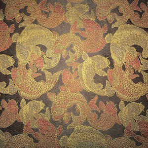 Koi Fish Gold Decorator Fabric