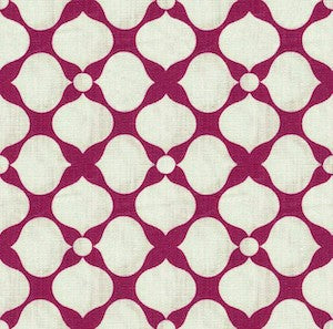 6.3 Yard Piece of Kravet Raspberry Santa Rosa Linen Fabric