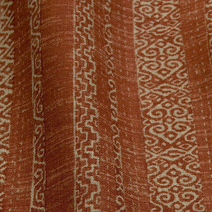 7.6 Yards Sawyer Stripe Rustic Red Fabric, Upholstery, Drapery, Home Accent, Tempo,  Savvy Swatch