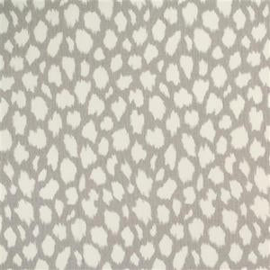 Leokat Silver Decorator Fabric