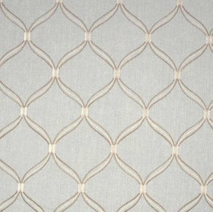 Lopez Mist Embroidered Trellis Fabric, Upholstery, Drapery, Home Accent, Premier Textiles,  Savvy Swatch